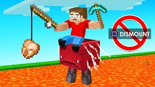 Minecraft But You ONLY RIDE The STRIDER (diamond challenge)