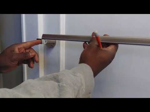 How to Cut & Install Bathroom Door Towel Bar