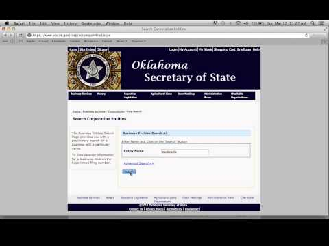Oklahoma Secretary of State Business Search