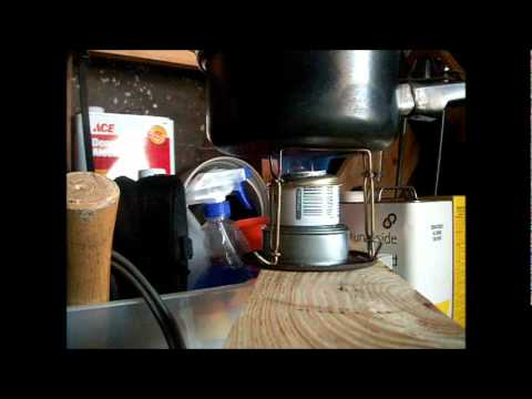 cooking rice on alcohol stove
