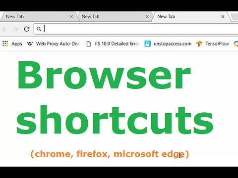 Browser shortcut keys (chrome, Microsoft edge, mozilla firefox)
