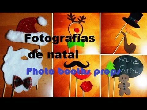 Fotografias de natal - photo booths props