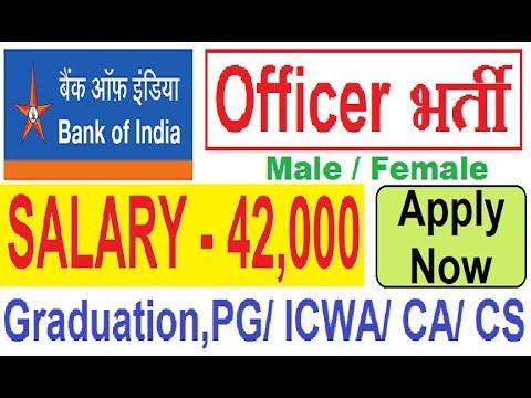 Bank of India Recruitment 2018 Notification Apply Now// Bank Jobs// Govt Vacancy