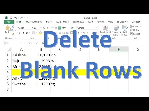 How to delete blank rows in Excel