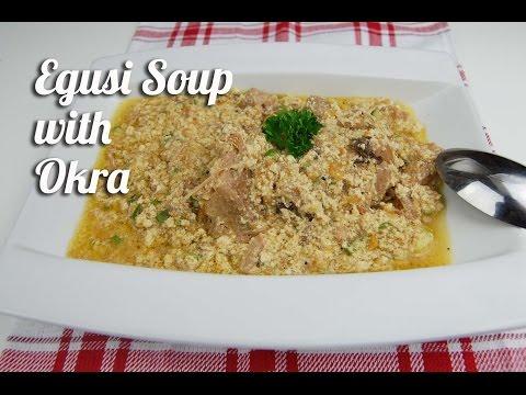 Egusi soup with okra