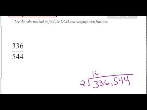 reducing fractions using gcd