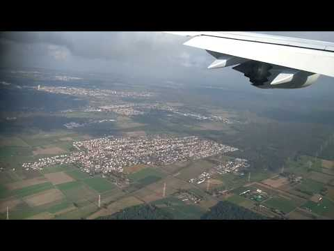 Lufthansa flight takeoff view Frankfurt Airport Germany
