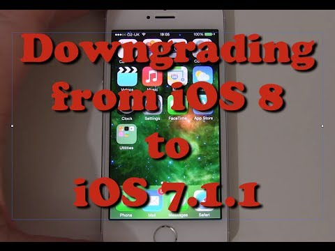 How to Downgrade your iPhone 5s from iOS 8 to iOS 7