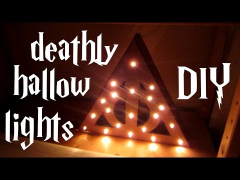 DIY deathly hallow lights - Harry Potter tutorial
