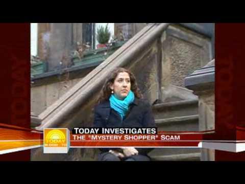 Mystery shopper job scam