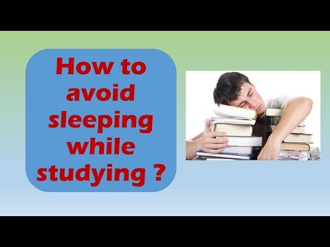 How to avoid sleep while studying ? How to study without sleep ?