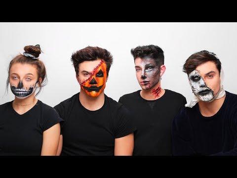 Doing My Best Friend's Halloween Makeup ft. Dolan Twins & Emma Chamberlain