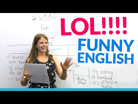 LOL!! Learn English vocabulary about JOKES: hilarious, dirty joke, LMAO...