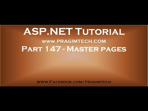Part 147   Master pages in asp net