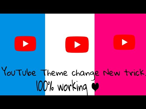 YouTube theme change Android new 👆 update. All color.