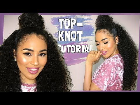 My Go-To Easy Top Knot Curly Hairstyle - Natural Hair Tutorial by Lana Summer
