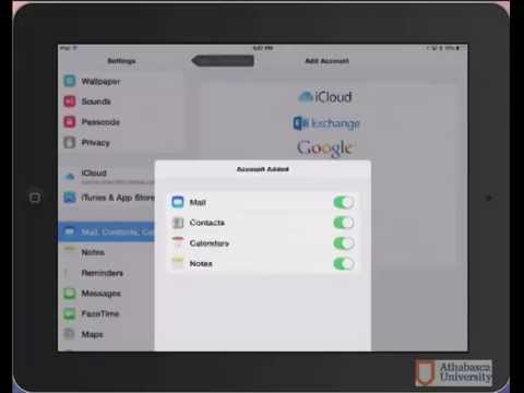 iPad Set Up E-mail