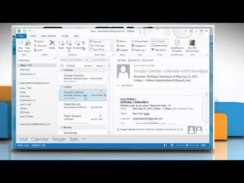 How to print a specific page of a message in Microsoft® Outlook 2013 on a Windows® 8.1 PC