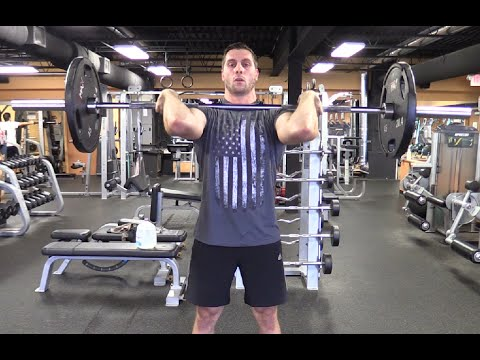 How to do the '3 Types' of Barbell Overhead Press | Olympic Lifting