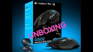 Logitech G502 unboxing(Professional gaming mouse for FORTNITE recommented)
