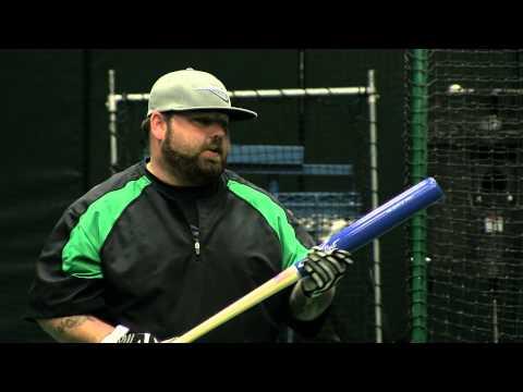 X Bat Maple Wood Softball Bat: SB59 Natural/Royal Slow Pitch