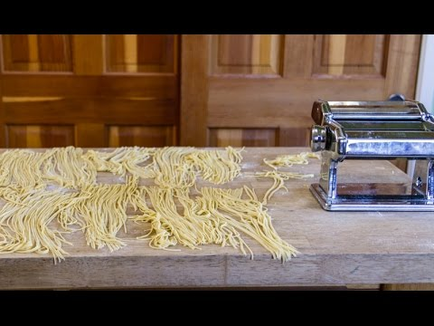 How to make homemade pasta with food processor and pasta machine