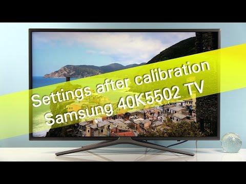 Samsung 40K5502 K5500 TV settings after calibration