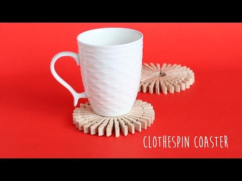 DIY: Clothespin Coaster