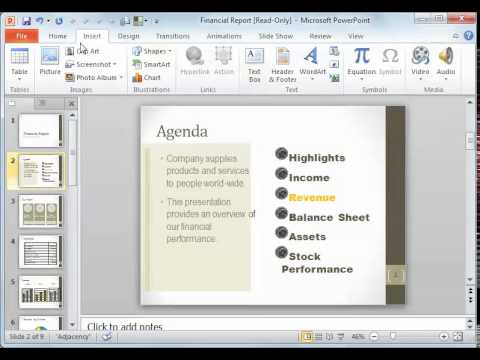 PowerPoint 2010 Resetting a slide