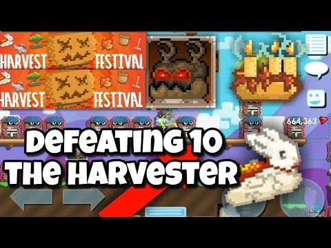 Defeating 10 The Harvester ( Crime ) | Growtopia