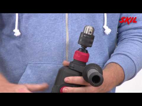 How to use the functions of an SDS drill?
