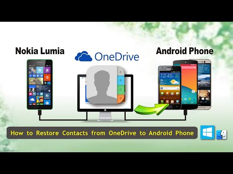How to Restore Contacts from OneDrive to Android Phone, OneDrive Contacts to Android