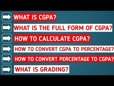 What is CGPA and How to calculate CGPA
