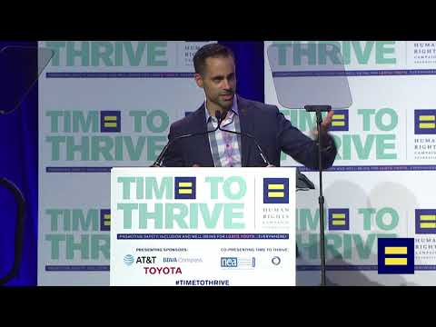 2018 Time To Thrive Presenting Sponsor AT&T Speaks at LGBTQ Youth Conference