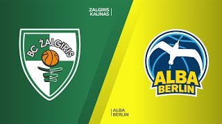 Zalgiris Kaunas - ALBA Berlin Highlights   Turkish Airlines EuroLeague, RS Round 21