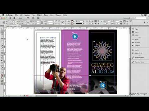 Rotate text inside a frame, or the frame around the text | InDesign | lynda.com