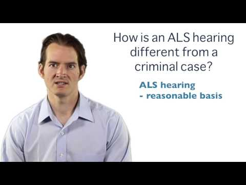What is the difference between an ALS hearing and the crimin