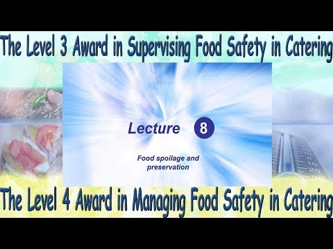 Lecture 8 - Level 4 Award in Managing Food Safety in Catering