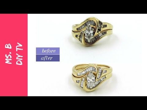 A simple way to clean your gold and diamond jewelry at home