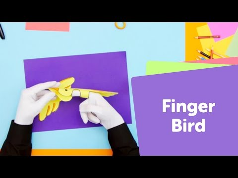 How to Make a Paper Bird Puppet   SuperHands: Easy Crafts, DIY Craft Ideas for Kids Toys