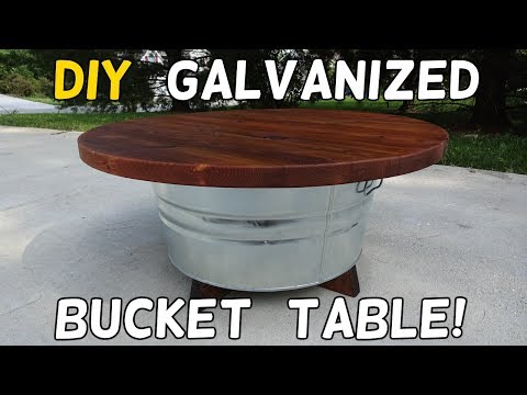 DIY Galvanized Bucket Table!