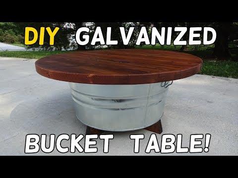 DIY Galvanized Bucket Table!