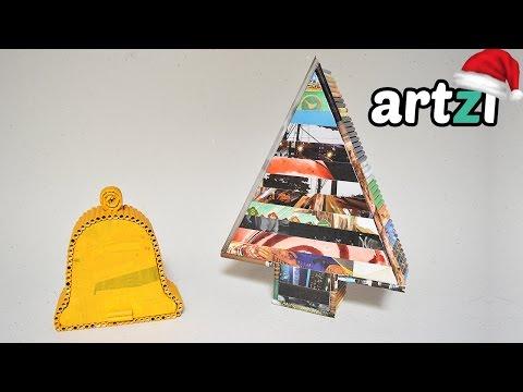 Christmas Boxes :: Old Magazine Rolls Box DIY