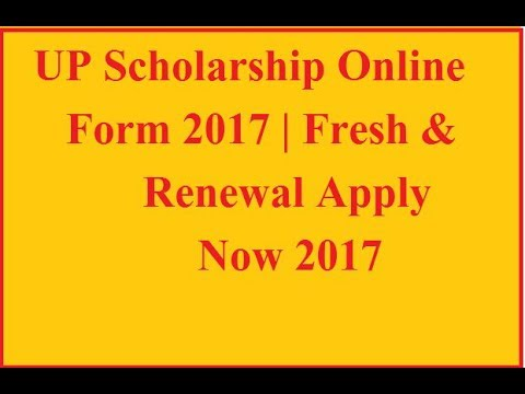 UP Scholarship Online Form 2017  Fresh  Renewal