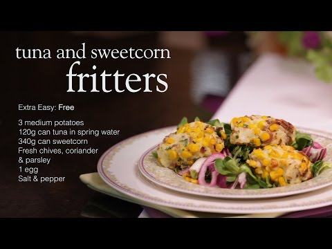 Slimming World tuna and sweetcorn fritters recipe video