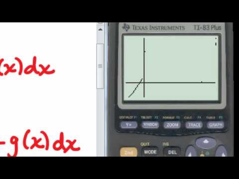Calculator - Calculus - Finding Areas Between Curves