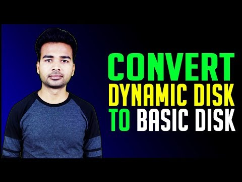 How to convert Dynamic Disk to Basic Disk | 100% working Solution