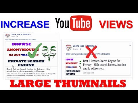 Best way to Share Youtube videos on Facebook with large Thumbnails