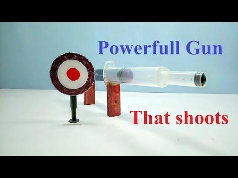 How to make a Gun using syringe simple easiest Air Gun