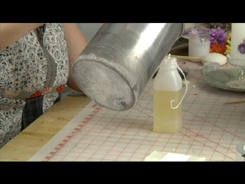 How to Make a Homemade Candle Mold With a Plastic Juice Bottle : Candle Making & More